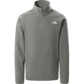 The North Face 100 Glacier Sweat-shirt avec Fermeture éclair 1/4 Homme, agave green